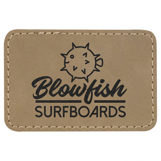 Laserable Leatherette Rectangle Patches