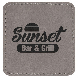Laserable Leatherette Square Patches