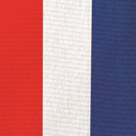 Olympic Style Neck Ribbon - Red, White, & Blue
