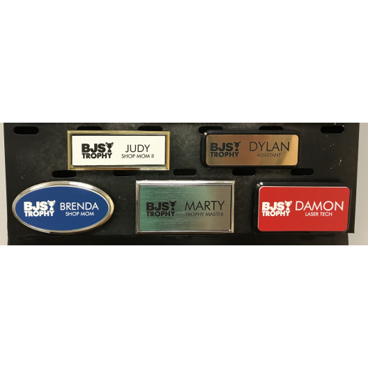Plastic Laser Engraved Name Tag