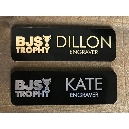 Metal Laser Engraved Name Tag
