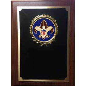 Royal Wood Plaque with Scouting Image