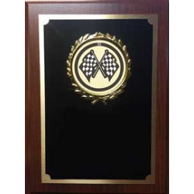 Royal Wood Plaque with Auto Image