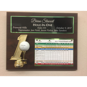 "Hole in One Plaque - 10.5"" x 13"""
