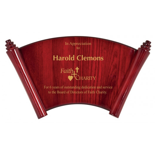 Arch Scroll Plaque