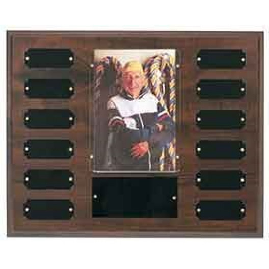 Cherry Finish Perpetual Plaque with Photo Sleeve