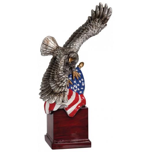 Eagle and Flag on Resin Base