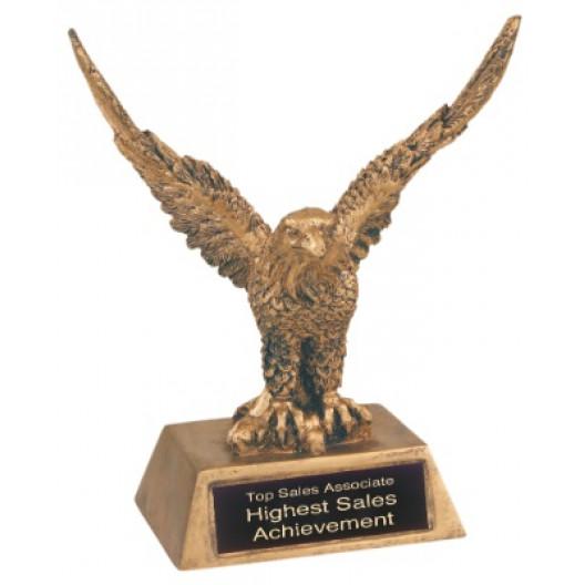 Antique Gold Eagle Resin