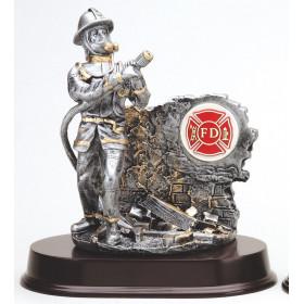 Resin Fireman w/ Gold Trim