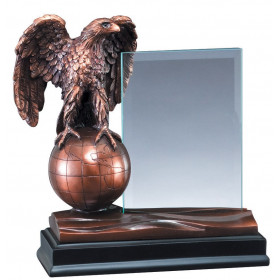 American Hero - Bronze Eagle with Glass Plaque