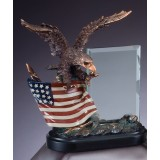 American Eagle - Full Color with Glass Plaque