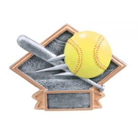 Softball Diamond Plate Resin