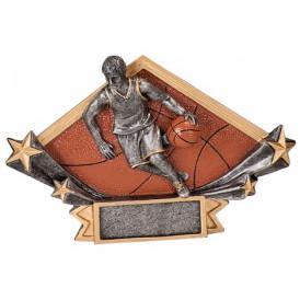 Male or Female Basketball Diamond Star Resin