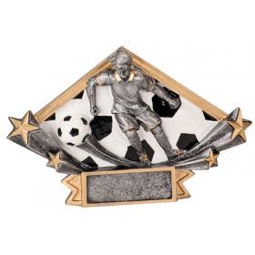Male or Female Soccer Diamond Star Resin