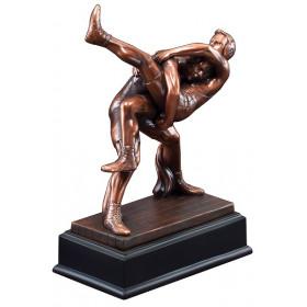 Bronze Gallery Resin Wrestling Sculpture