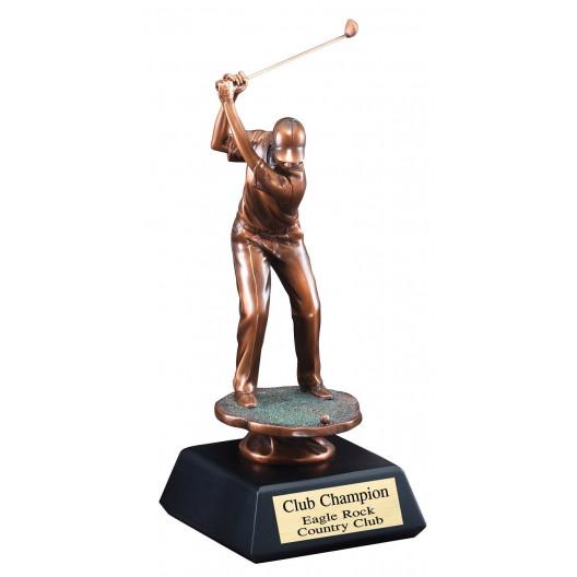 Male Golfer Drive Resin