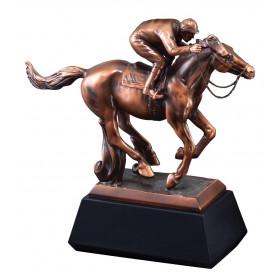 Resin Horse w/ Jockey