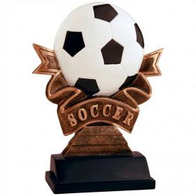 Soccer Ribbon Resin