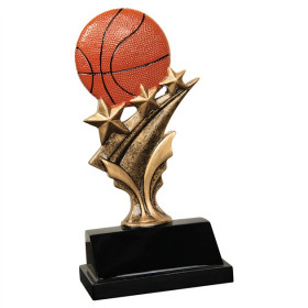 Basketball Tri Star Resin