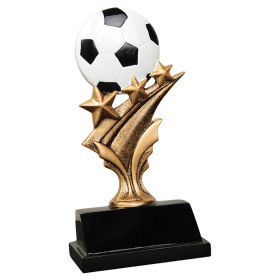 Soccer Tri Star Resin