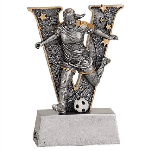 Male or Female Soccer V Series Resin