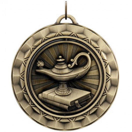 Spinner Medal - Lamp of Knowledge