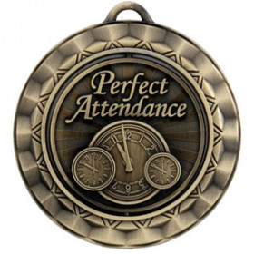 Spinner Medal - Perfect Attendance