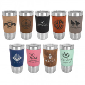 Insulated Leatherette Wrapped Tumbler - 20 oz.