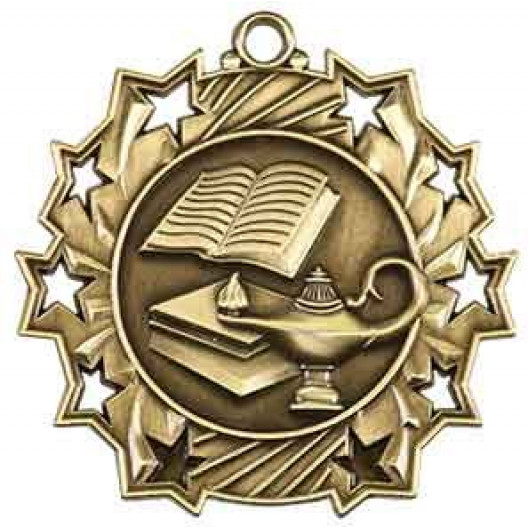 Ten Star Medal - Lamp of Knowledge