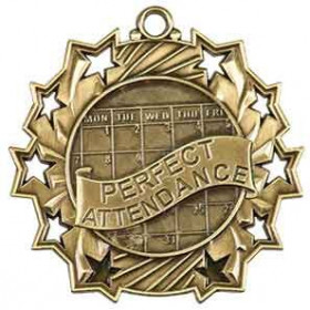 Ten Star Medal - Perfect Attendance