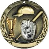 Tri-Colored Medal - Baseball