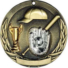 Tri-Colored Medal - Baseball