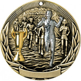 Tri-Colored Medal - Cross Country