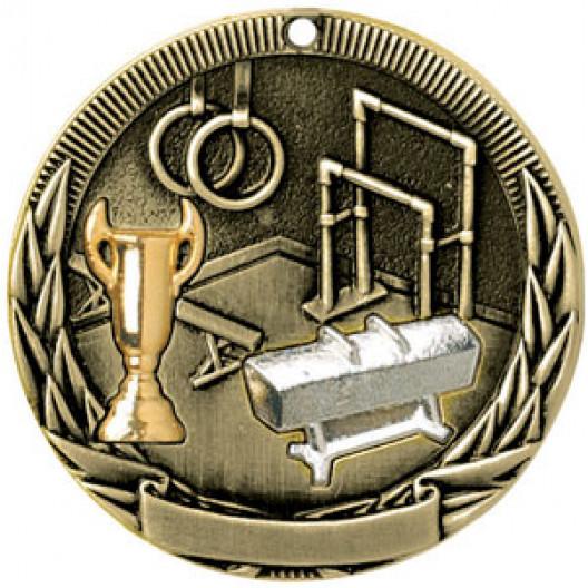 Tri-Colored Medal - Gymnastics