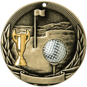 Tri-Colored Medal - Golf