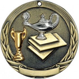 Tri-Colored Medal - Lamp of Knowledge