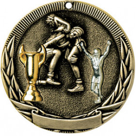 Tri-Colored Medal - Wrestling