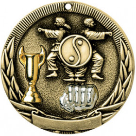 Tri-Colored Medal - Karate