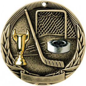 Tri-Colored Medal - Hockey