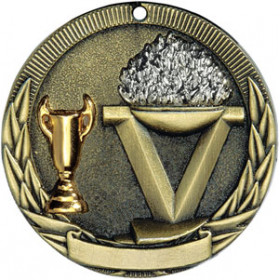 Tri-Colored Medal - Victory Torch