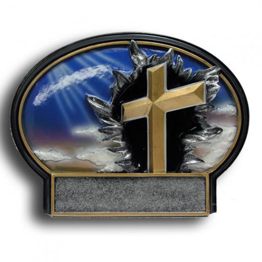 Religious Burst Thru Resin Plate