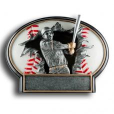Baseball Burst Thru Resin Plate