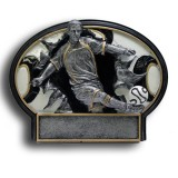 Soccer Burst Thru Resin Plate - Male