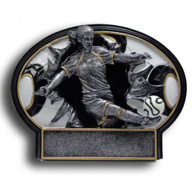 Soccer Burst Thru Resin Plate - Female