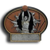 Basketball Burst Thru Resin Plate - Female