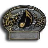 Music Burst Thru Resin Plate