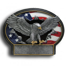 Eagle Burst Thru Resin Plate