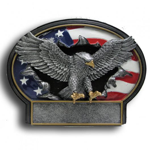Eagle Burst Thru Resin Plate