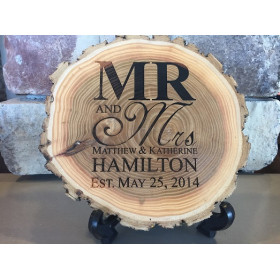 "Old West 9"" Diameter Log Plaque"